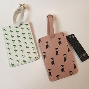Set of 2Massini Vegan Leather Luggage Tags